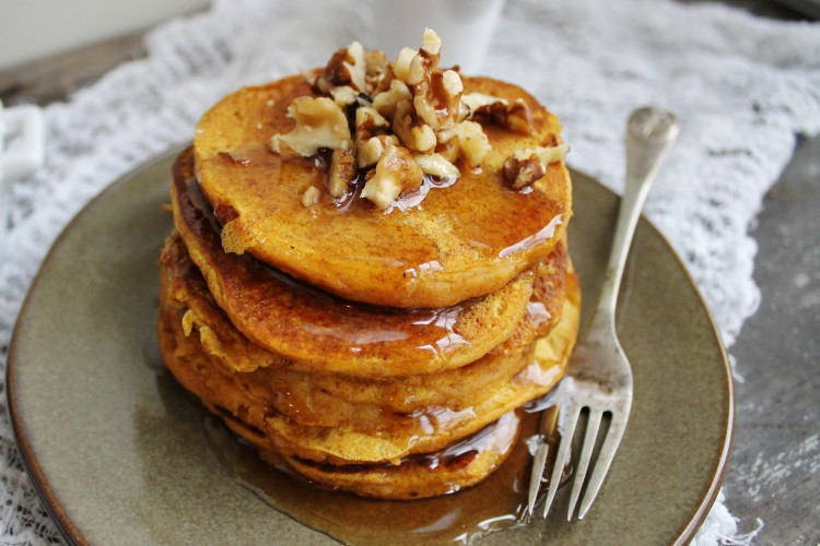 Pumpkin Walnut Pancakes