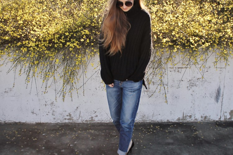 Chunky Knits x Boyfriend Jeans
