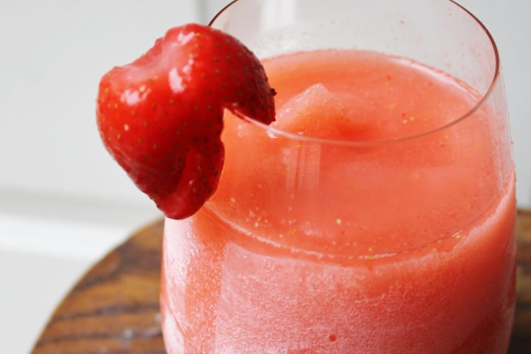 Boozy Strawberry Lemonade Slushie