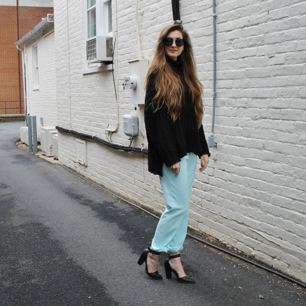 baby blue trousers |www.whatkumquat.com