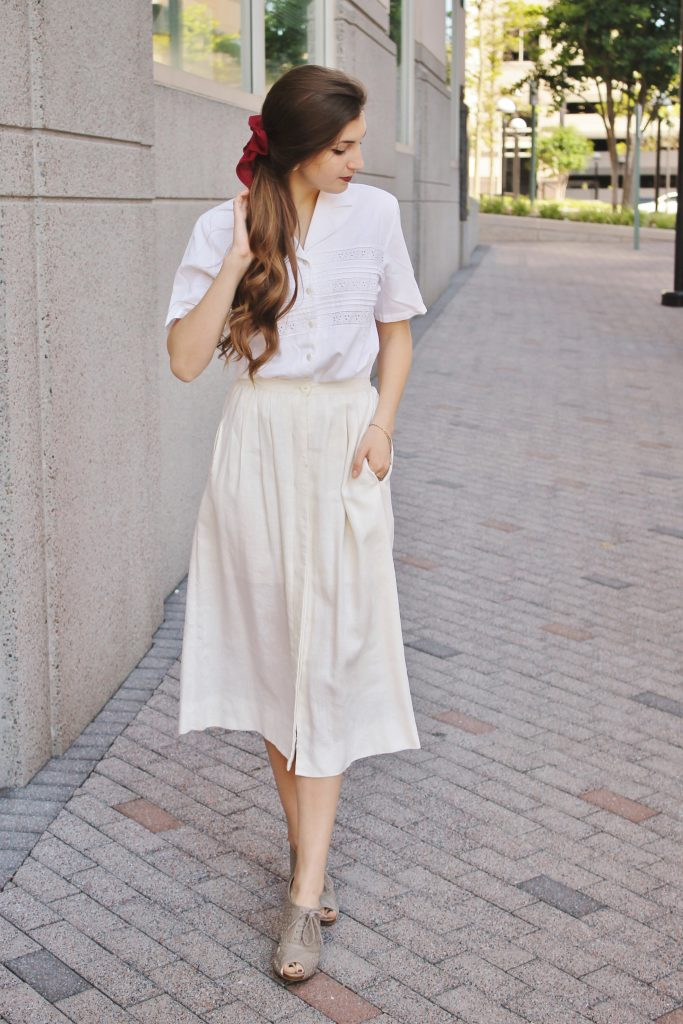 linen midi skirt  www.whatkumquat.com