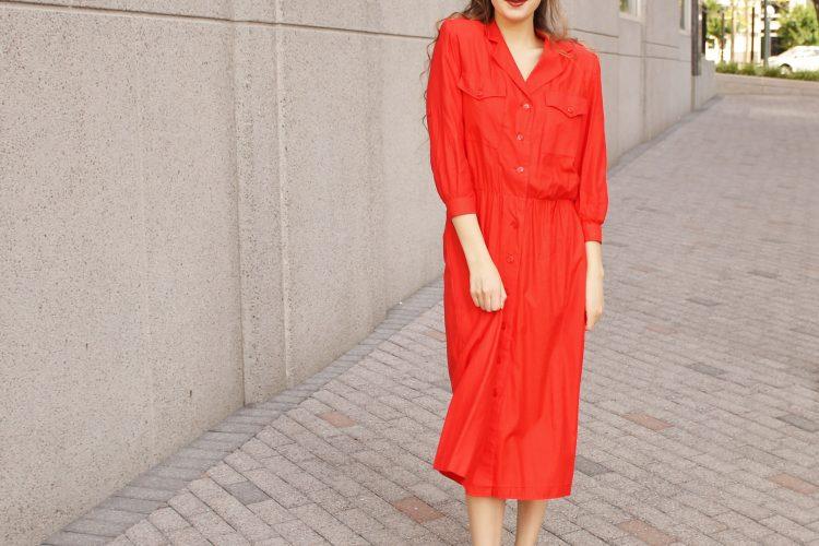 Red Maxi Shirtdress