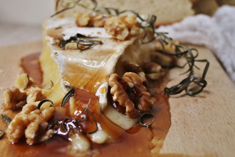 Rosemary Honey Baked Brie