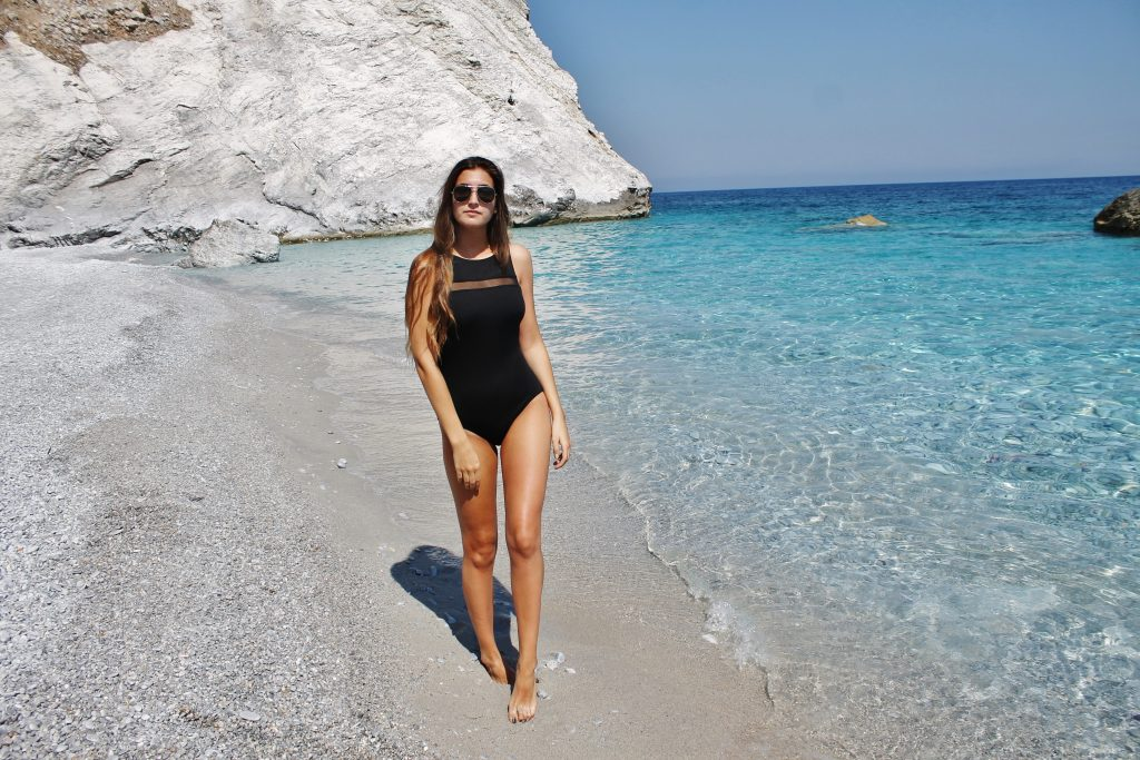 Classic black one piece swimsuit |www.whatkumquat.com