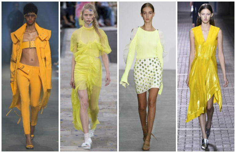 LFW spring 2017 trend: yellow |www.whatkumquat.com