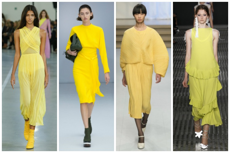 Milan Fashion Week ss2017 Trend Report: Yellow [www.whatkumquat.com]