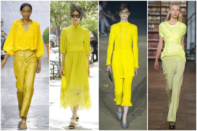 NYFW ss 2017 trend: yellow |www.whatkumquat.com
