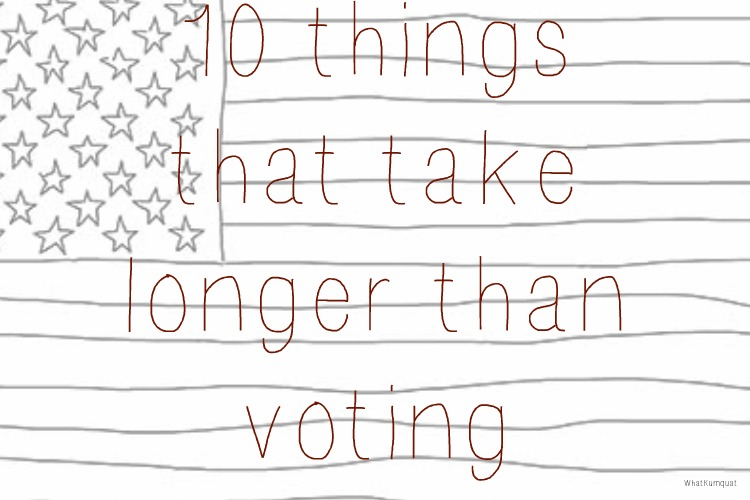 10 Things That Take Longer Than Voting