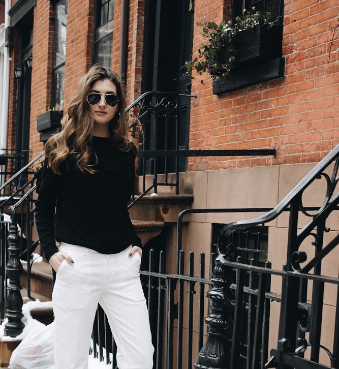 NYC Spring Street Style: Neutrals with H&M [www.whatkumquat.com]