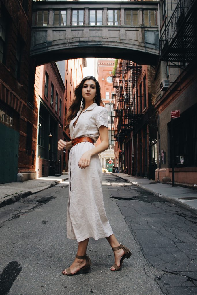 How To Style A Linen Maxi Dress In The Summer [www.whatkumquat.com]