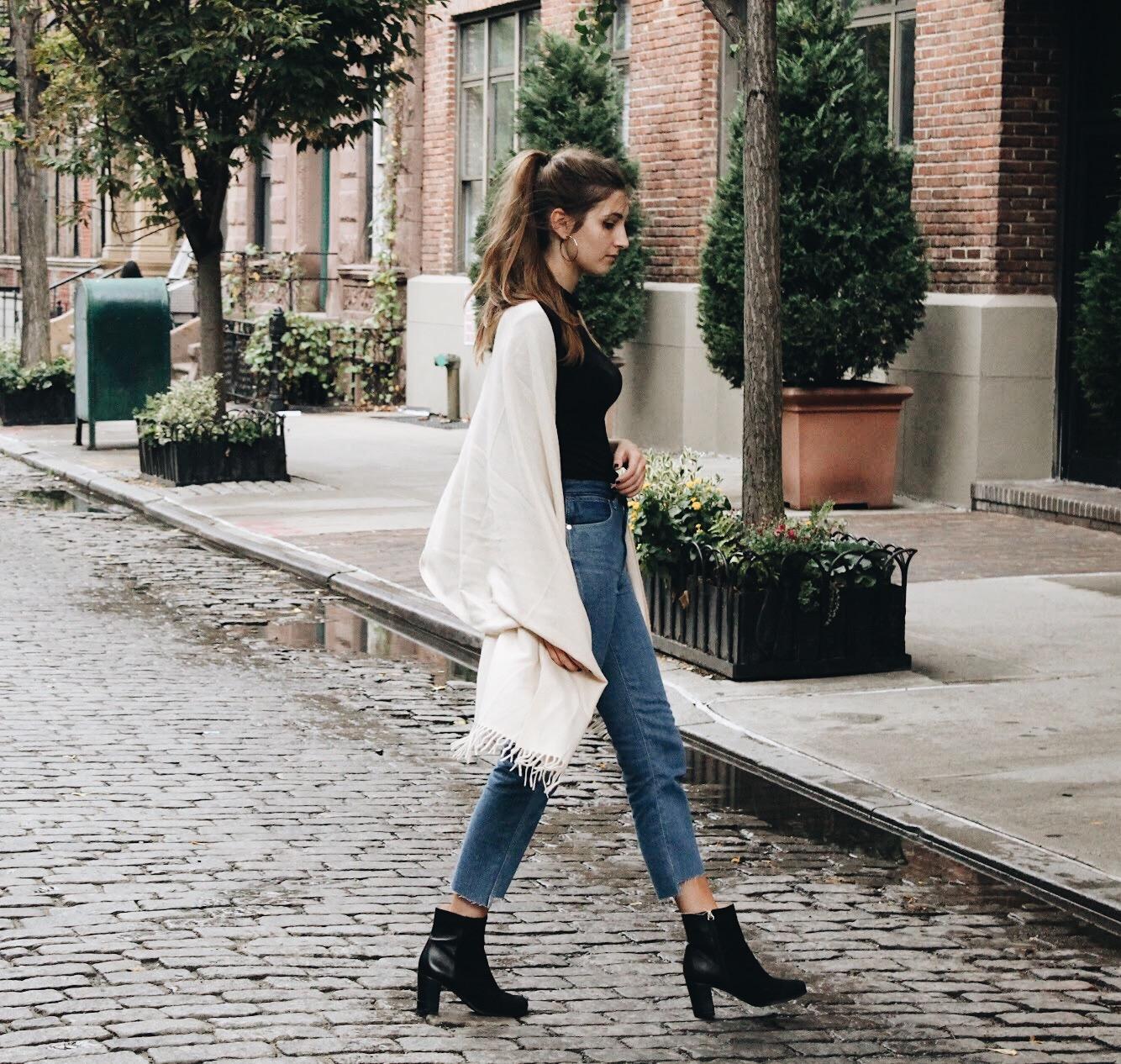 Cashmere Scarf Fall Outfit   WhatKumquat.com