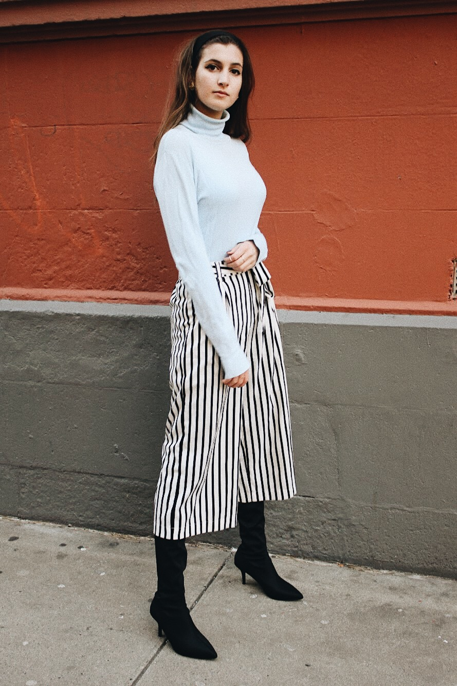 How to style culottes in the winter | whatkumquat.com