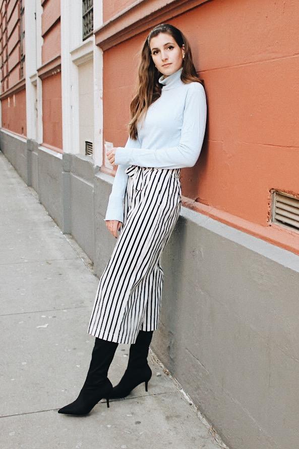 How to style culottes in the winter   whatkumquat.com